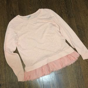 Anthropologie Clu Peach Sweatshirt